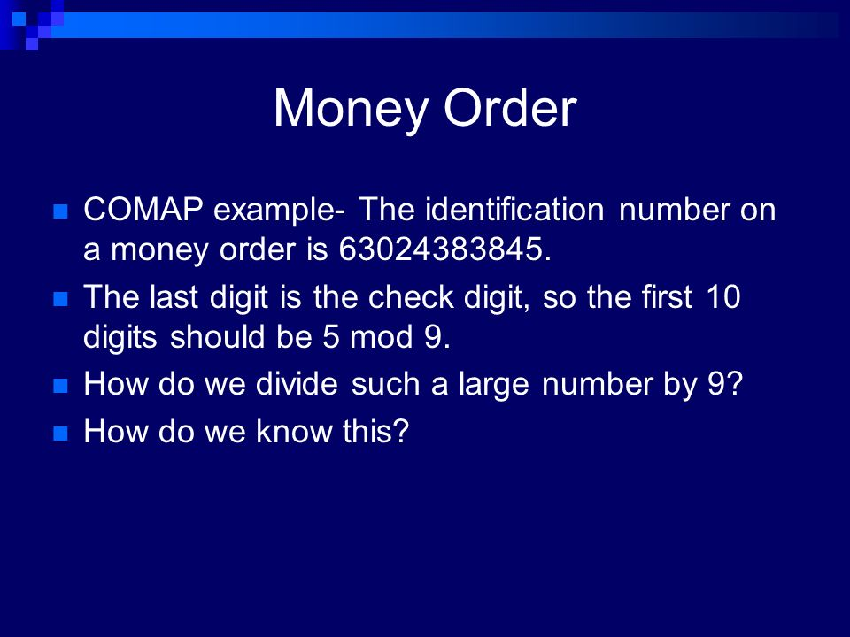 Identification Numbers and Error Detection Meredith Wachs. - ppt ...