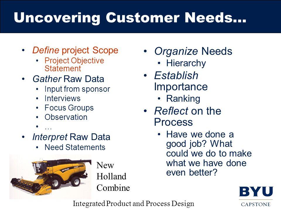 needs of customer 2 essay