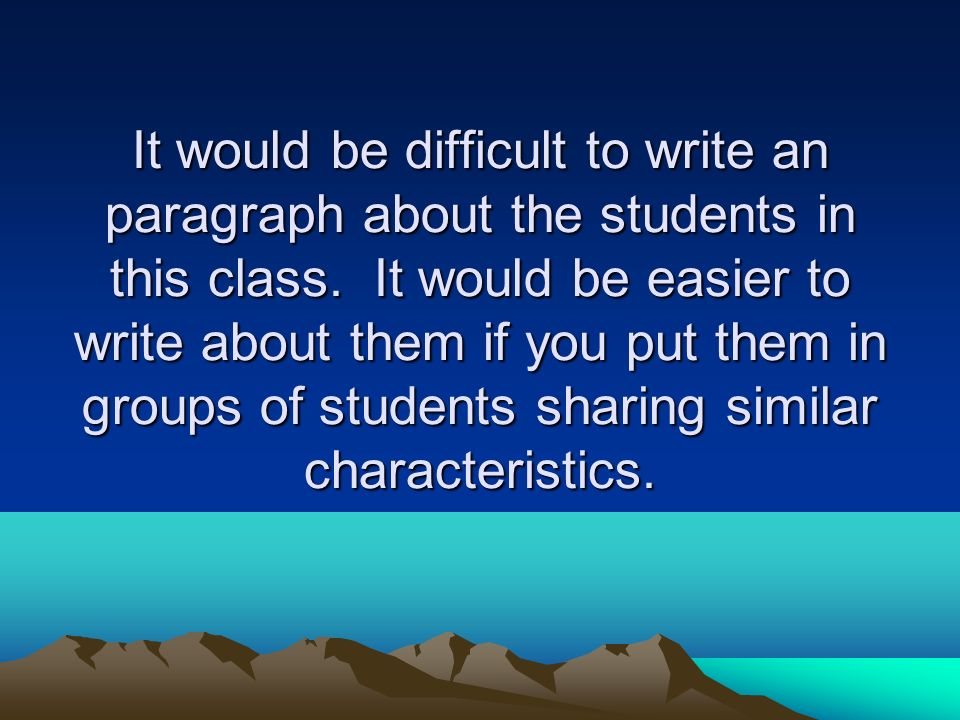 Which would be easier to write about?