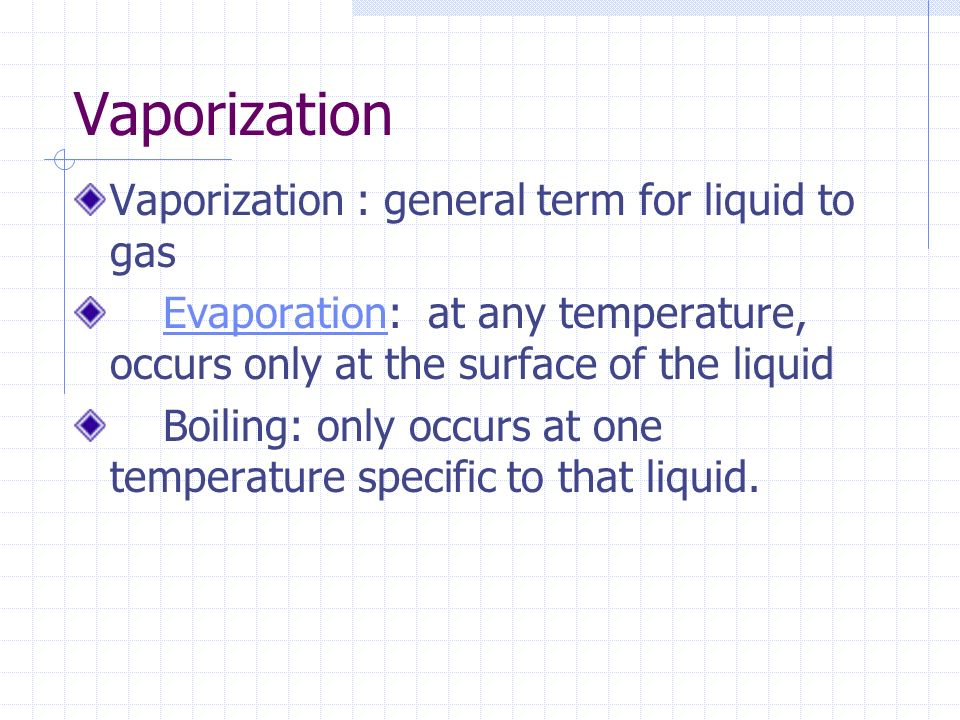 Melting and Freezing Melting : change in state from a solid to a liquid Freezing : change in state from a liquid to a solid These processes will occur at the same temperature.