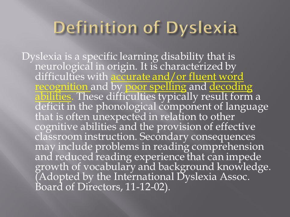 2 Dyslexia ...