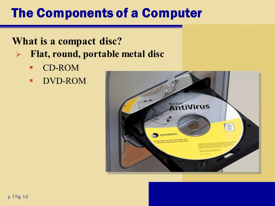 The Components of a Computer What is a compact disc.