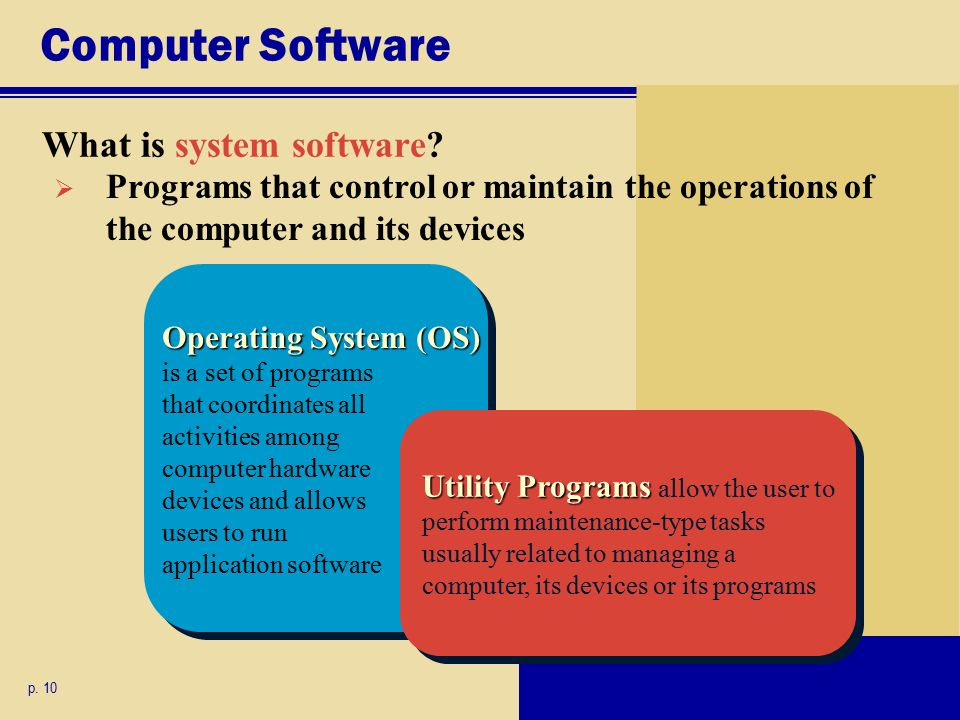 Computer Software What is system software. p.