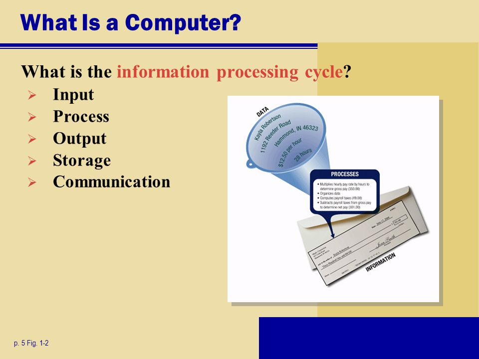 What Is a Computer. What is the information processing cycle.