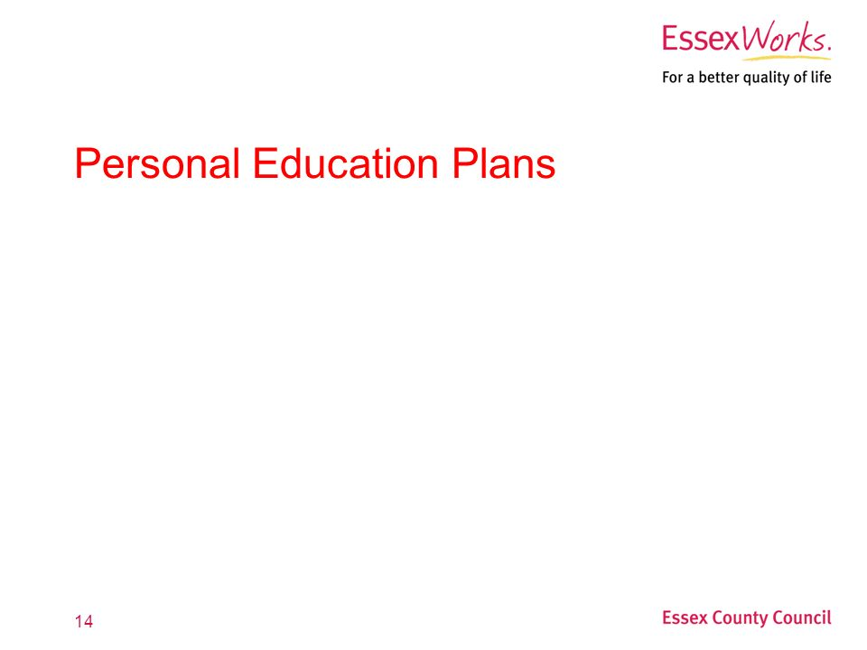 14 Personal Education Plans