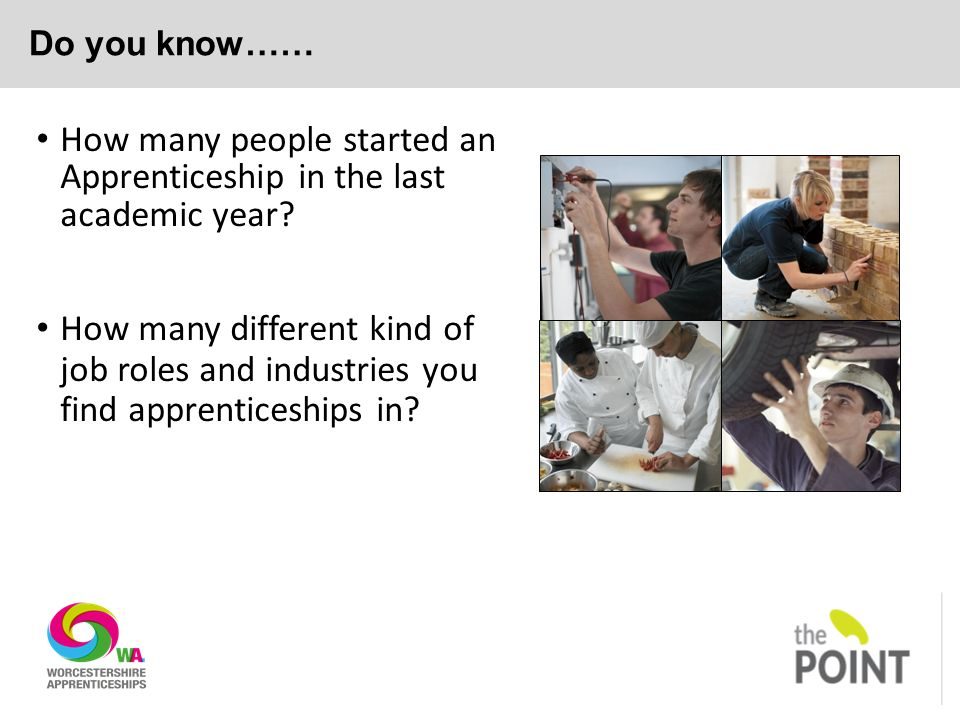 Do you know…… How many people started an Apprenticeship in the last academic year.