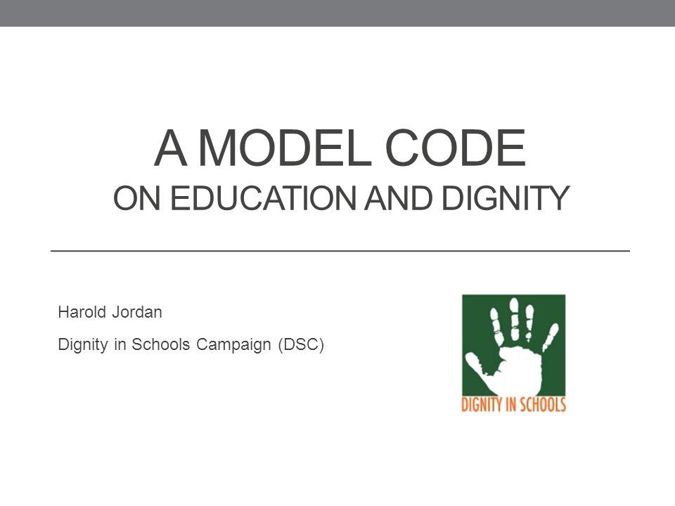 DSC Model Code Comparison Tool – Discipline ... - Dignity In Schools