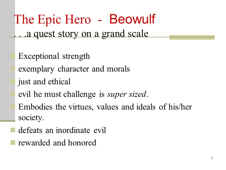 an analysis of beowulfs heroism in the epic of beowulf