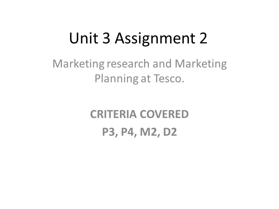Assignment on marketing