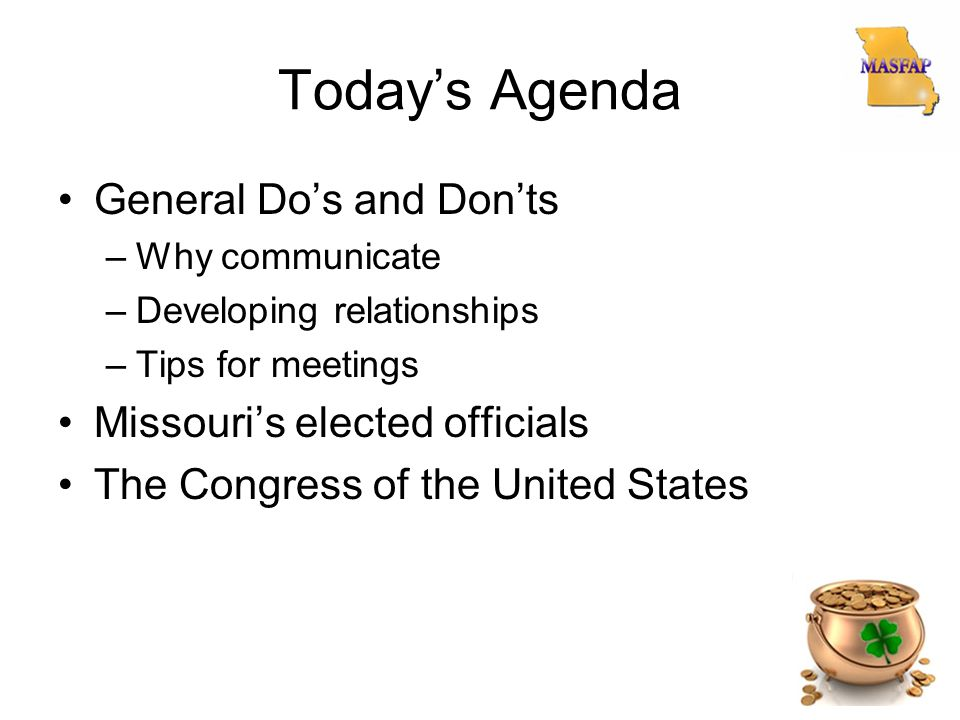 Meeting Agenda Dos Donts Riding Dos And Donts Riding Dos And Donts