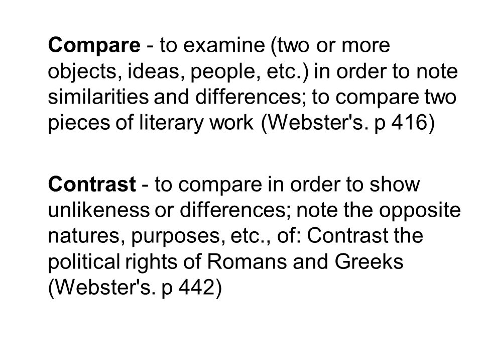 compare and contrast two suburbs Concept learning: examples & nonexamples compare & contrast opportunity to compare and contrast the two using your subject area standards.