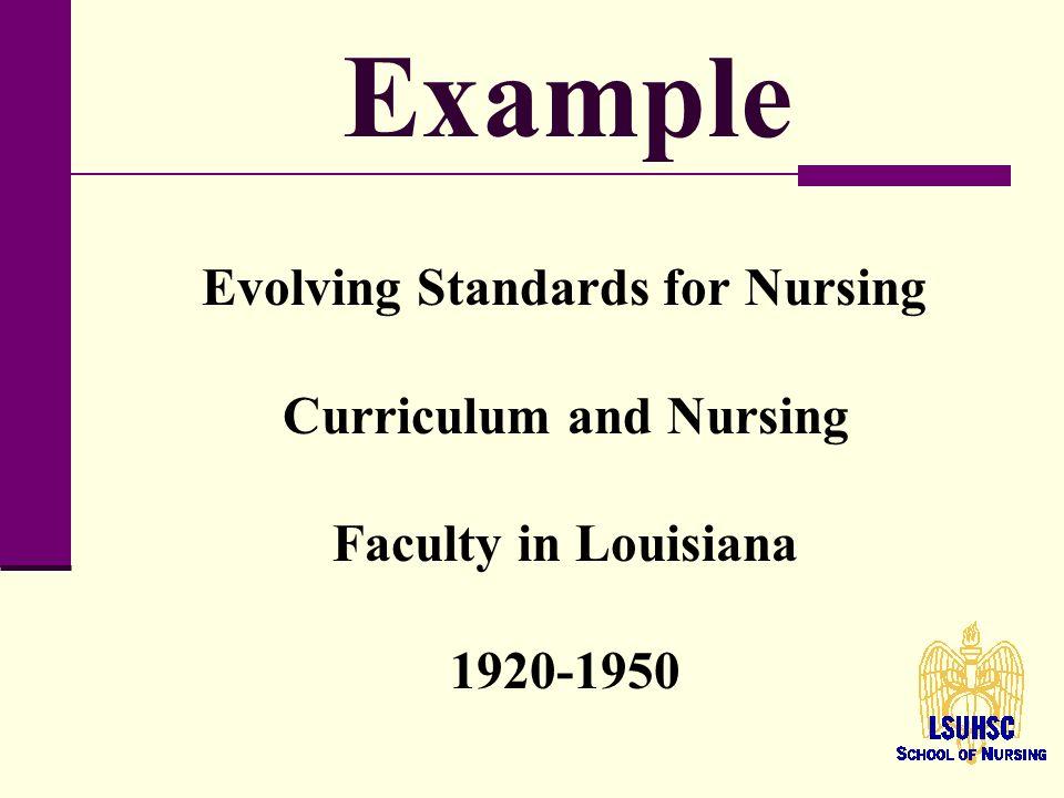 evolution of nursing curriculum Nursing curriculum semester 1 nurs 305 foundations of community-based nursing practice, 4 credits nurs 315 professional communication in healthcare, 3 credits.