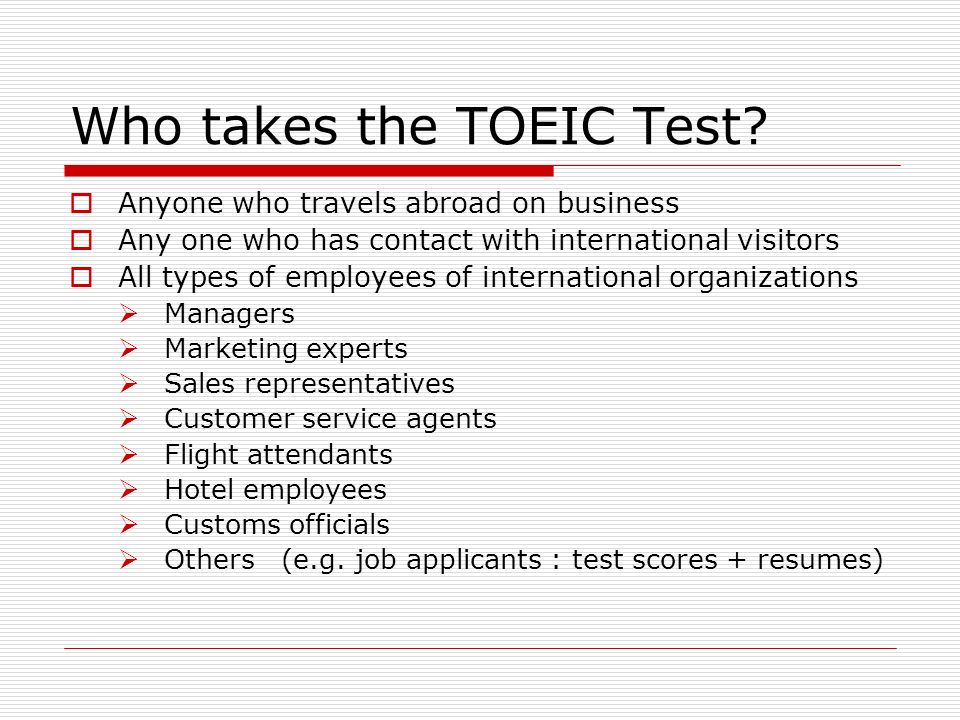 Anyone attended to exam for ESL test??