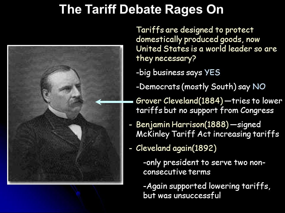 Tariffs are designed to protect domestically produced goods, now United States is a world leader so are they necessary.