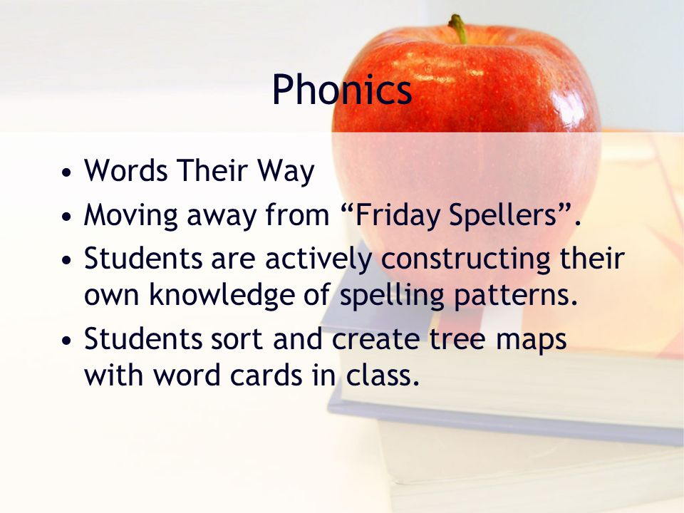Phonics Words Their Way Moving away from Friday Spellers .