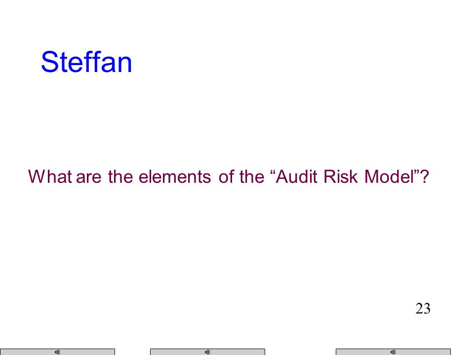 22 Audit Risk Model
