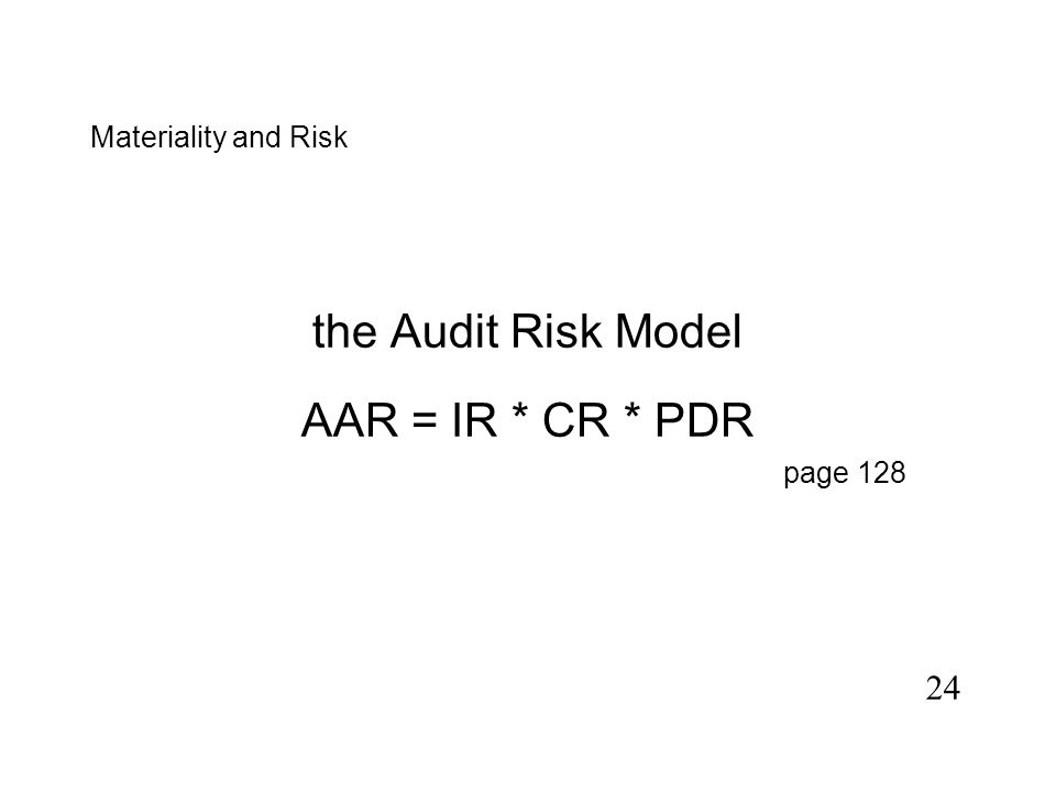 23 What are the elements of the Audit Risk Model Steffan
