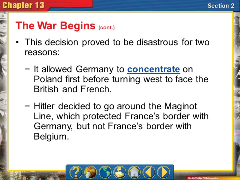 What are two good arguments that can be made about the Invasion of Poland?