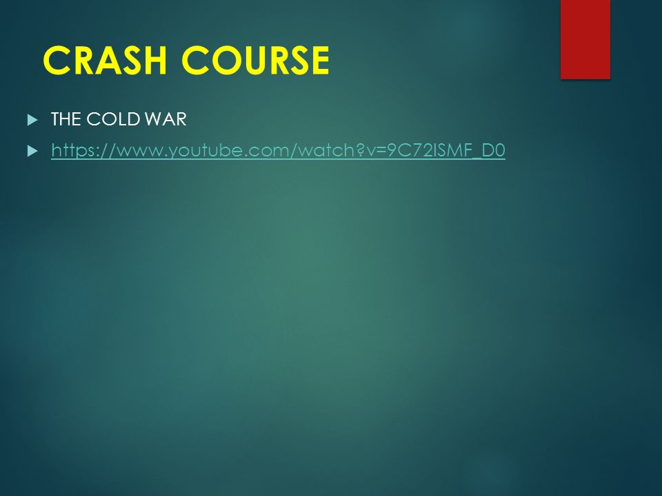 CRASH COURSE  THE COLD WAR    v=9C72ISMF_D0   v=9C72ISMF_D0