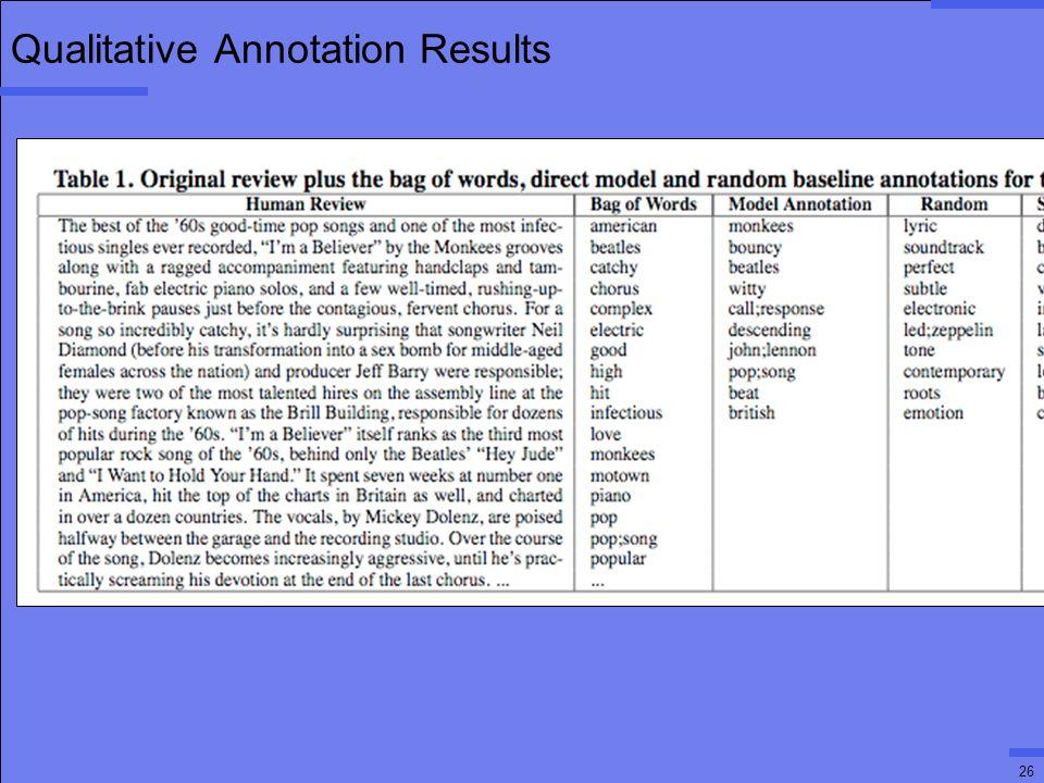 26 Qualitative Annotation Results