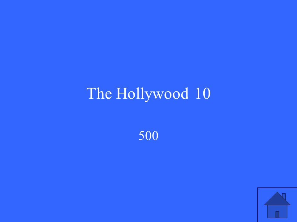 The Hollywood