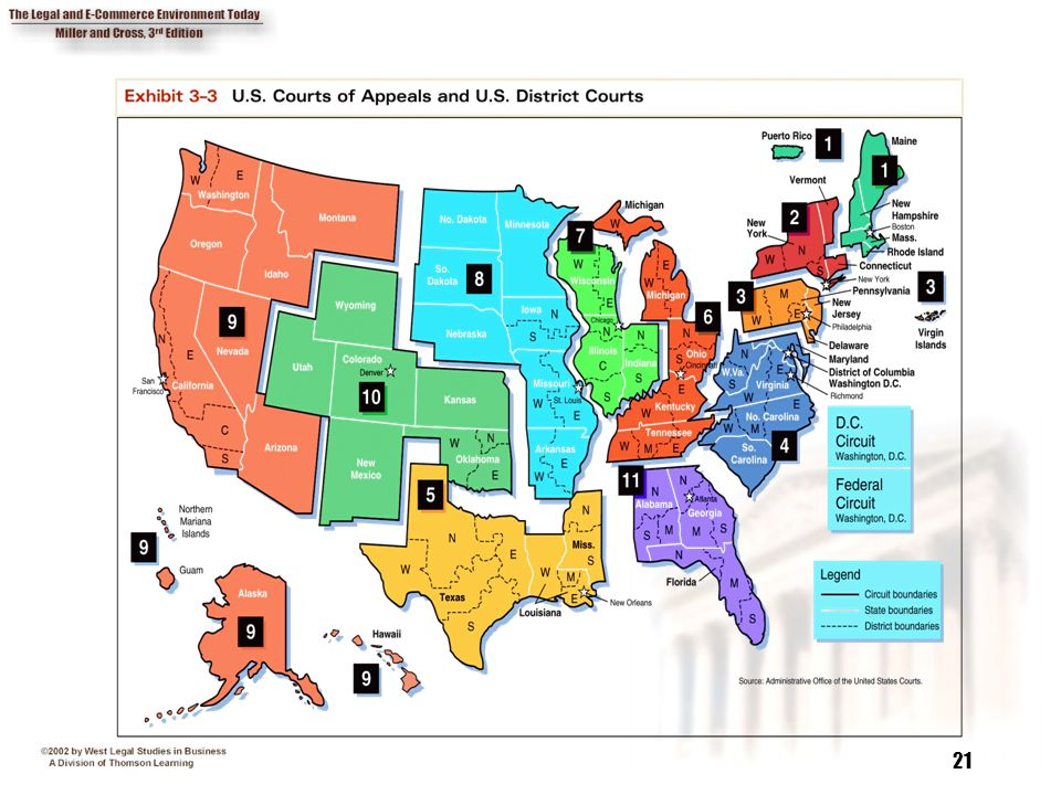 Map Us Circuit Courts - Us federal courts map