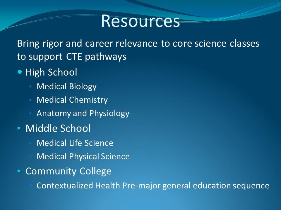 Health Pathways: Linking High School to College Preparing students ...