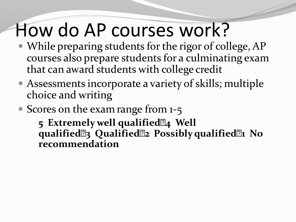 How do AP courses work.