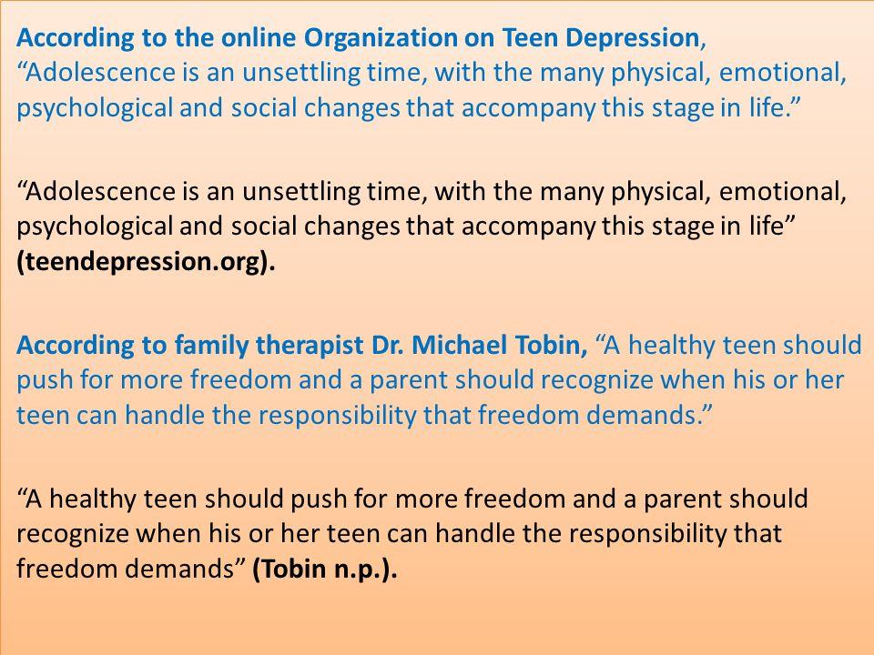 depression in teenagers essay