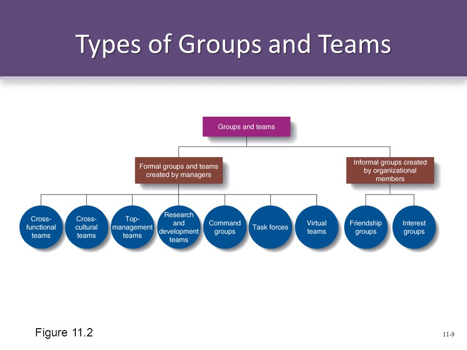 Types of Groups and Teams Figure 11.2 11-9