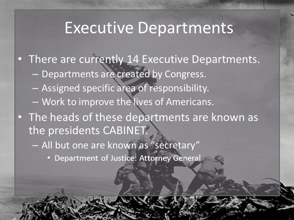 The Executive Branch The Presidency. The President's Job ...