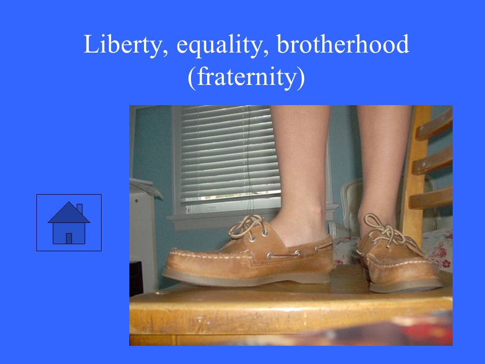 Liberty, equality, brotherhood (fraternity)