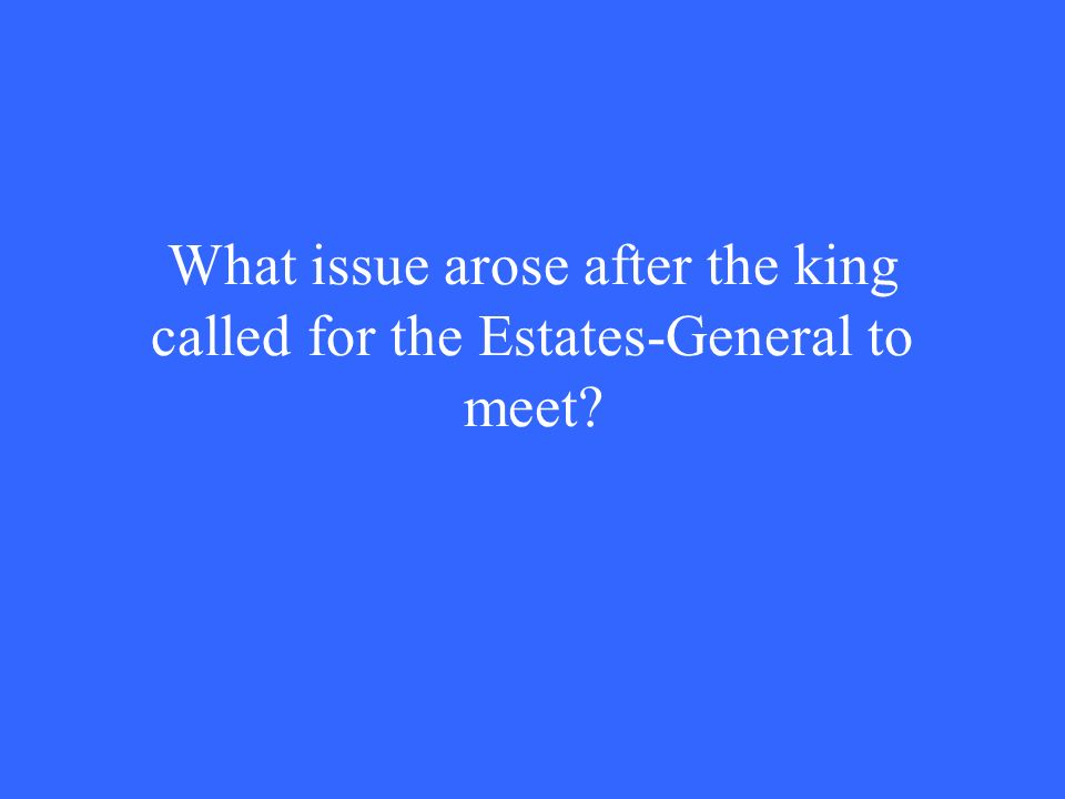 What issue arose after the king called for the Estates-General to meet