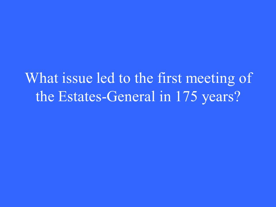 What issue led to the first meeting of the Estates-General in 175 years