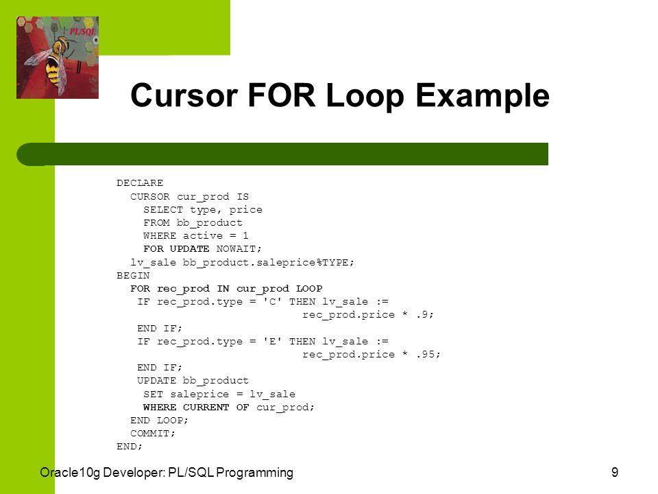 Oracle10g Developer: PL/SQL Programming1 Objectives Manipulating ...