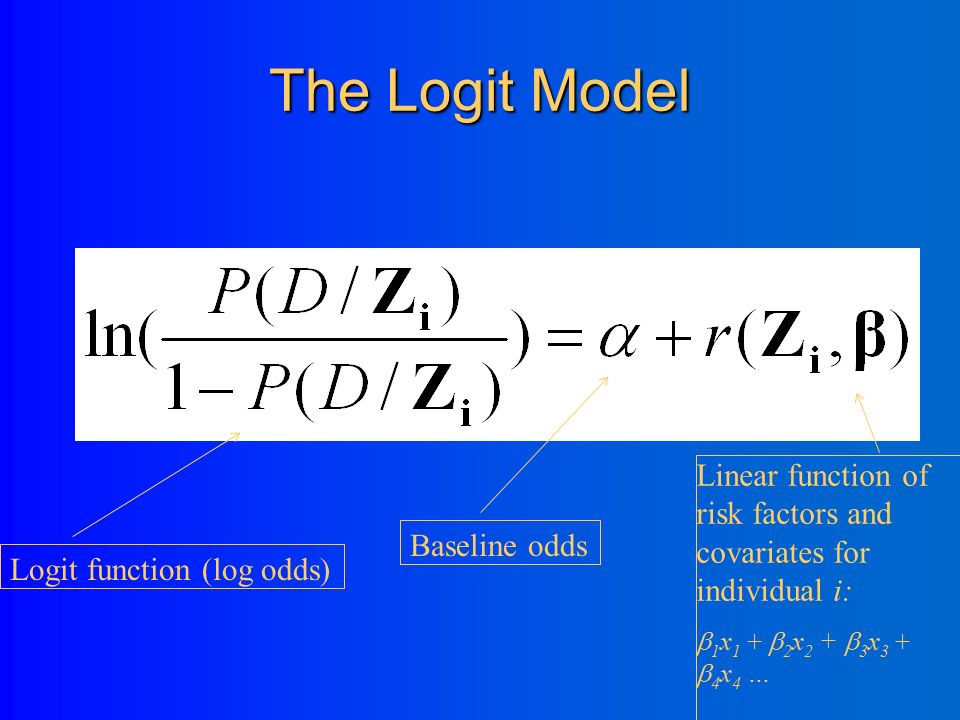 The link function The relationship between a linear combination of the predictors and the response is specified by a non-linear link function (example=log function, or the inverse of the exponential) For traditional linear models in which the response variable follows a normal distribution, the link function is the identity link.