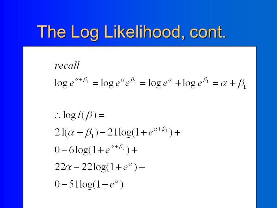 The Log Likelihood