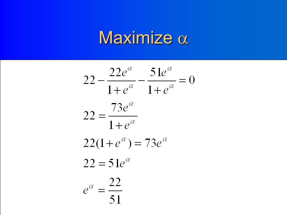 Derivative of the log likelihood