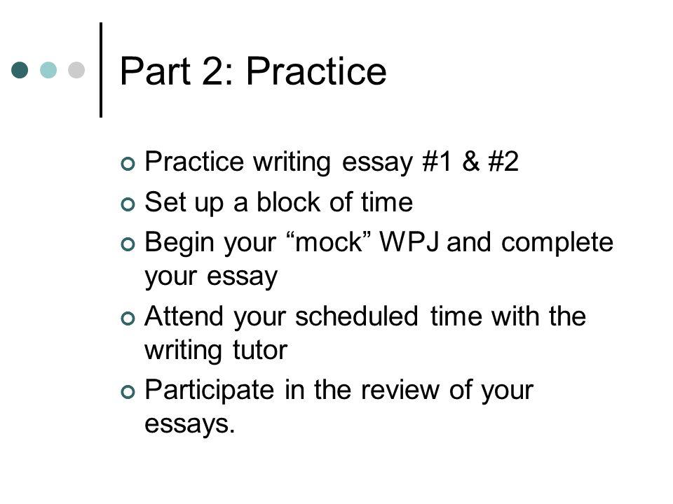 Wpj essay examples