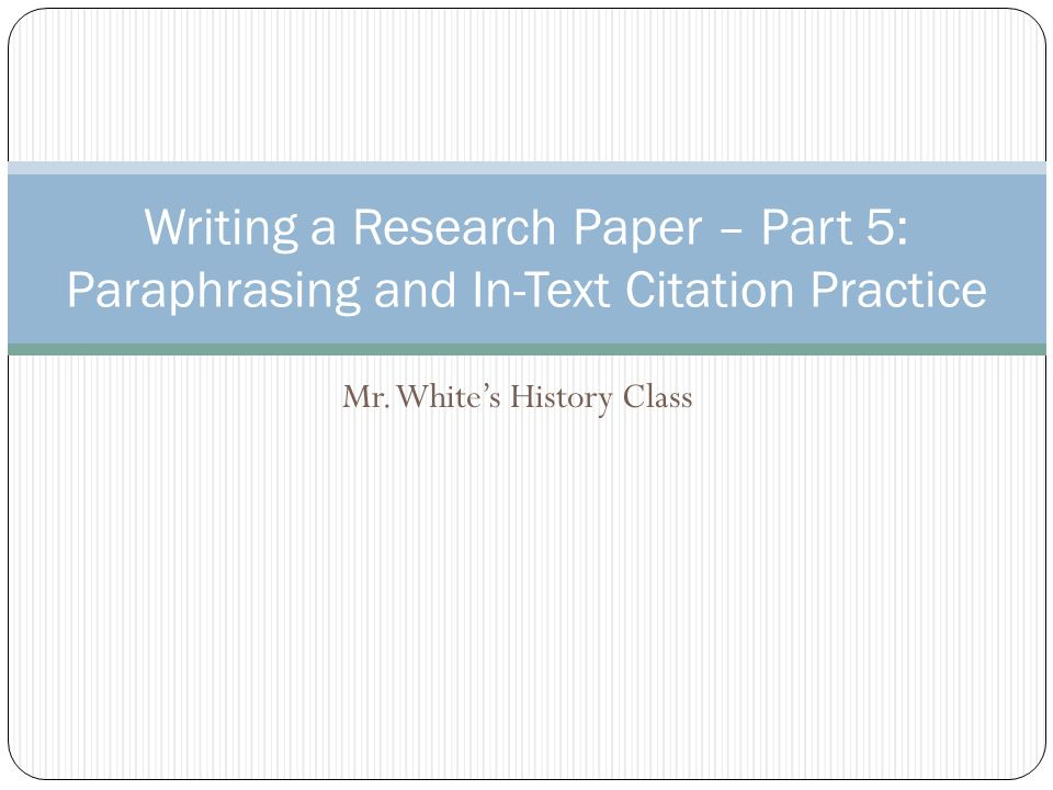 Good Term Paper Topic for History class?