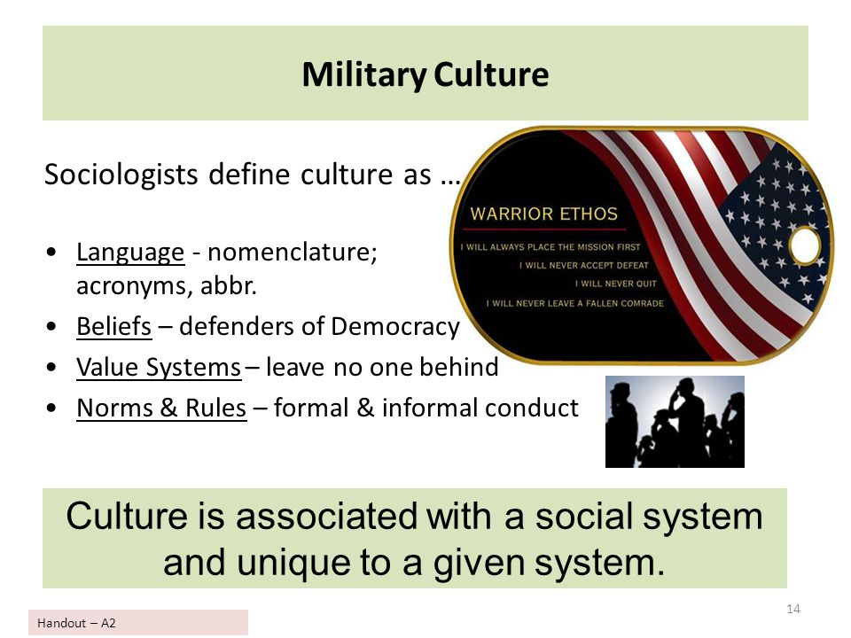 12 domains of culture and the military Twelve domains of culture chart twelve domains of culture chart introduction to accomplish the needs and requirements of the social order with numerous culture prevailing in different regions, health care in new era working hard and emphasizes on team building to give culturally sensitive and competent concern to improve the results of customers.