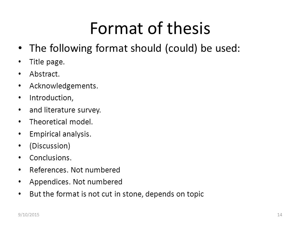 How to write an abstract for a thesis
