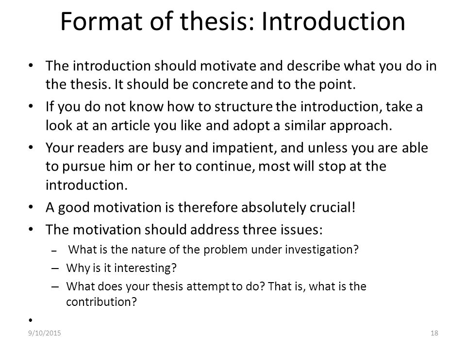 writing an introduction to a thesis