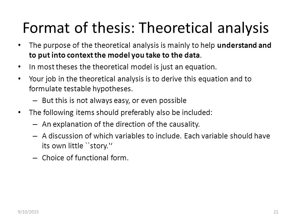 format of thesis writing