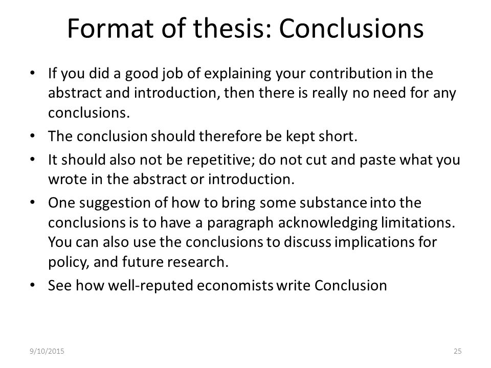 write conclusion thesis paper