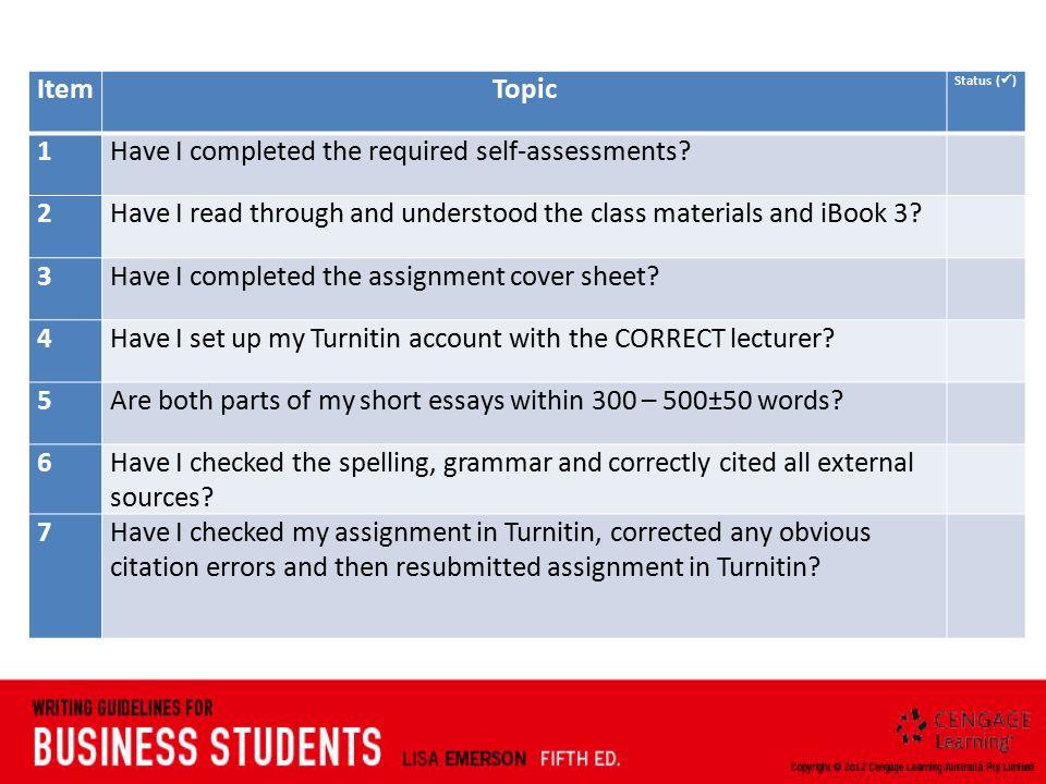 external auditing assignment