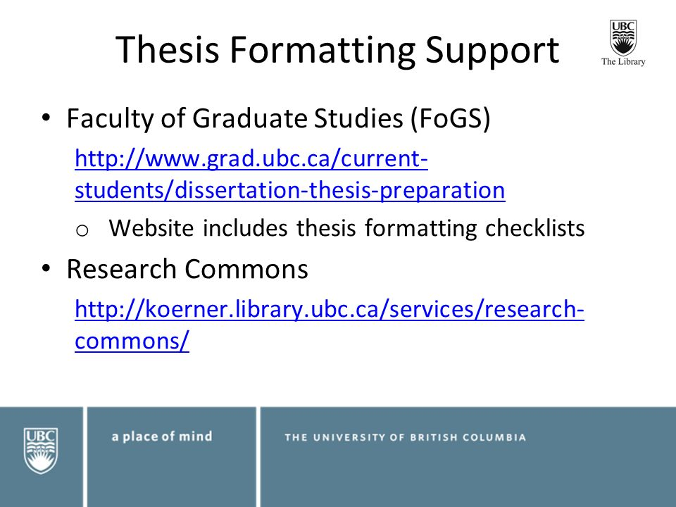 graduate project or thesis apa Fonts, margins, chapter headings, citations, and references must all match the formatting and placement used within the rest of the thesis or dissertation.