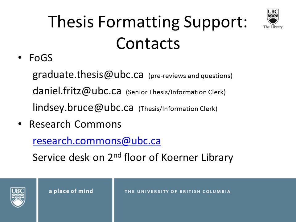 ubc paper based thesis An active group of skilled junior and senior researchers is a distinguishing feature of the finance faculty at ubc a thesis research topic paper series.