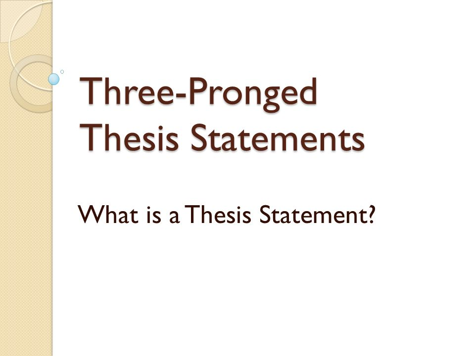 Whats a thesis statment