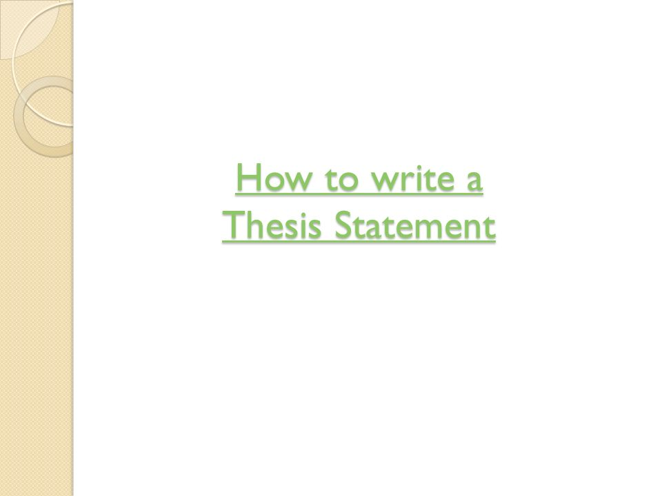 Whats a thesis statement?